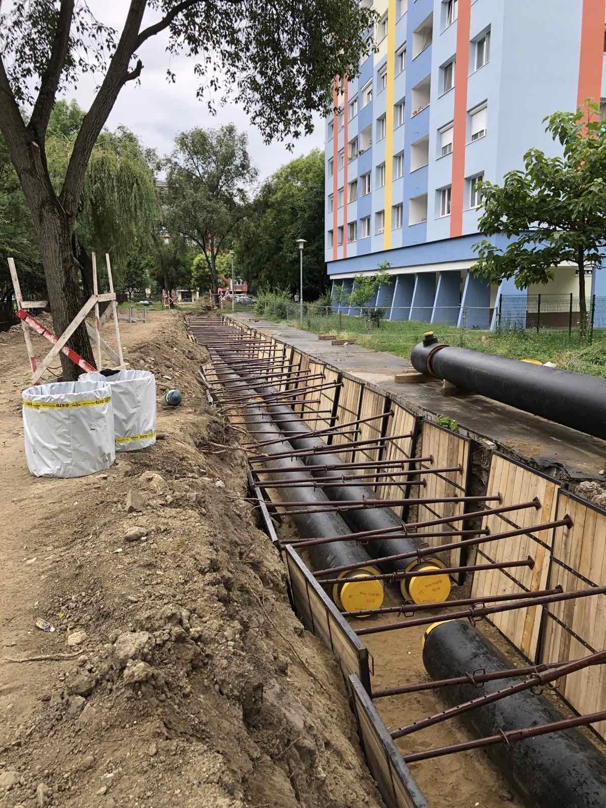 Távhővezeték rekonstrukció